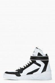 Givenchy // Black & White Leather High Top Sneaker