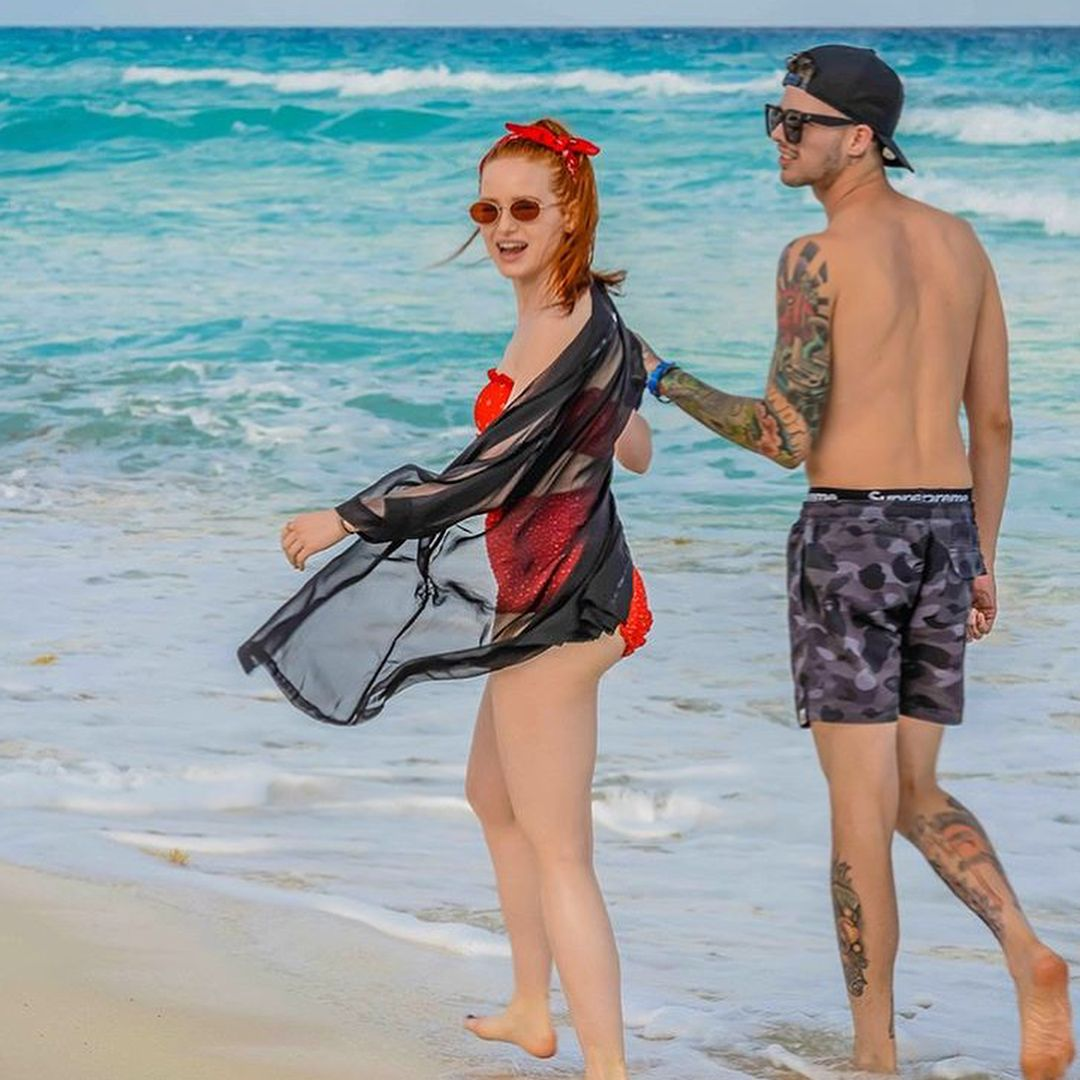 66707fc5cc4a2  madelame and  travismills on vacation together!  riverdale  madelainepetsch
