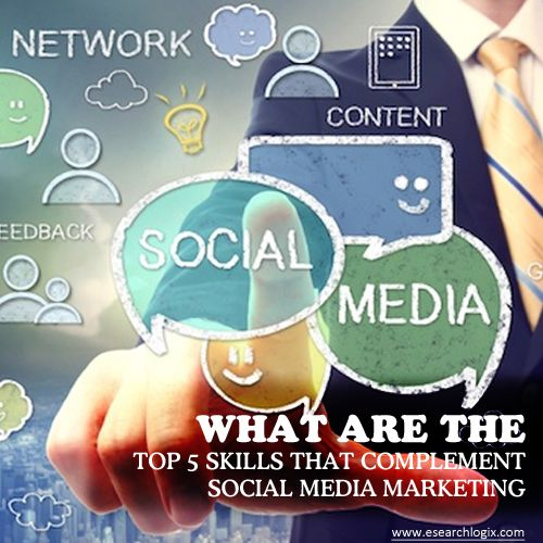 What are the top 5 skills that complement social media marketing? - eSearch  Logix | Social media marketing companies, Social media marketing, Media  marketing