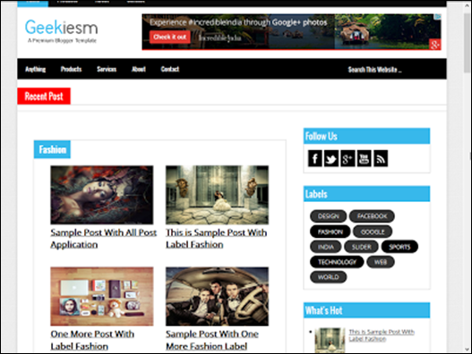 Geekiesmn Responsive Blogger Template   Blogger Temaları   Pinterest