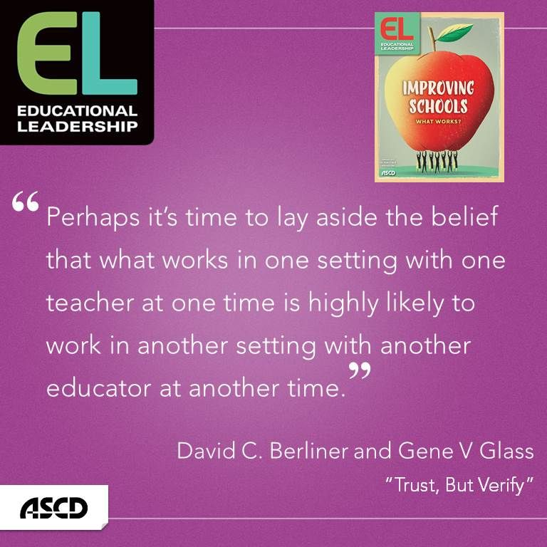 David C  Berliner and Gene V  Glass explain why a program