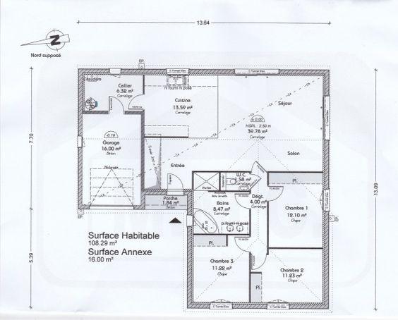 2eme-version1jpg (1034×1012) Plans de maison Pinterest House