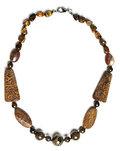 "Rare Unique Miriam Stone and Tigers Eye Chunky Gemstone Designer 18"" Necklace Witch and Rich http://www.amazon.com/dp/B00M3I58LI/ref=cm_sw_r_pi_dp_IX.jvb1G7R6KJ"