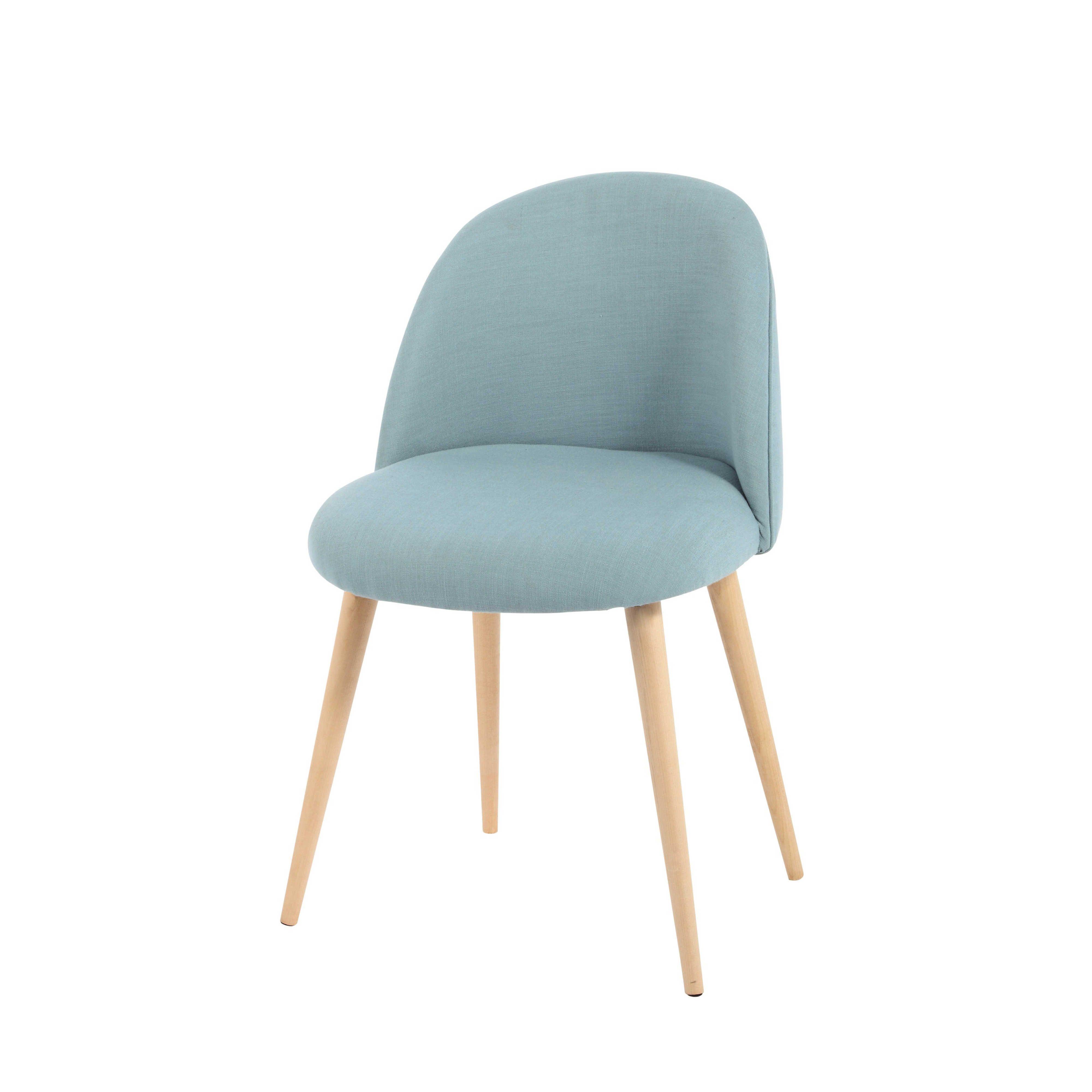 chaise vintage bleue et bouleau massif chaise vintage bouleau et massif. Black Bedroom Furniture Sets. Home Design Ideas