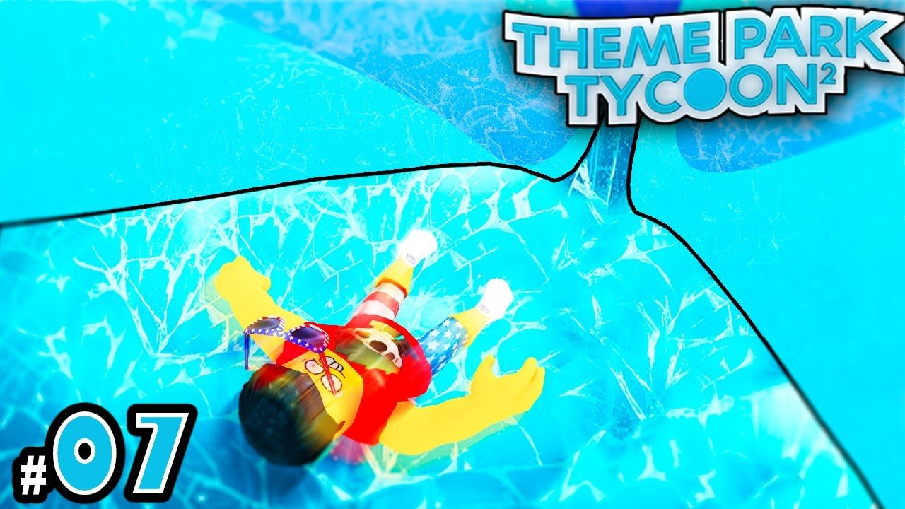 NEW Theme Park Tycoon! Ep  7: MAKING ICE SLIDES | Roblox