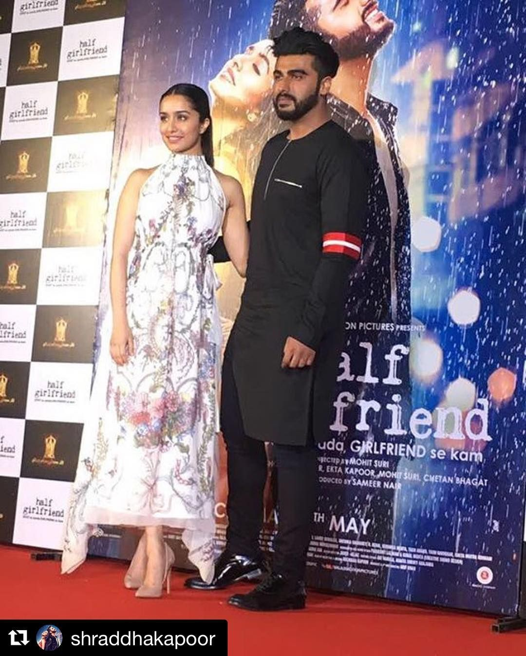 With my #halfgirlfriend !!! At the trailer launch with @shraddhakapoor !!! #Repost @shraddhakapoor with @repostapp ・・・