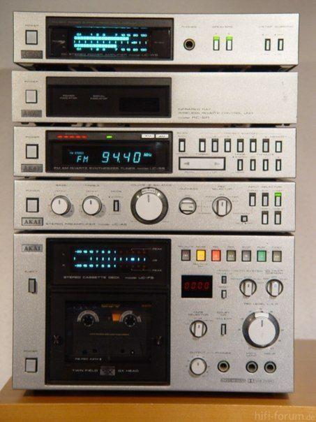 Akai Stereo System Audio Design Hifi Vintage Electronics