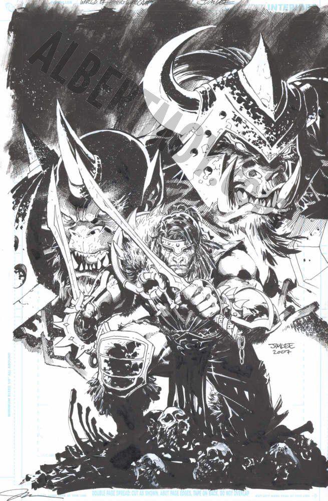 World Of Warcraft 2 Cover Jim Lee Jim Lee Art Jim Lee Comic Art