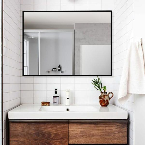 Neu Type Rectangle Modern Simple Bathroom Vanity Mirror Wall Mounted Hanging Mirror Black Gold Jj00379aafn 1 In 2020 Bathroom Vanity Mirror Hanging Mirror Simple Bathroom
