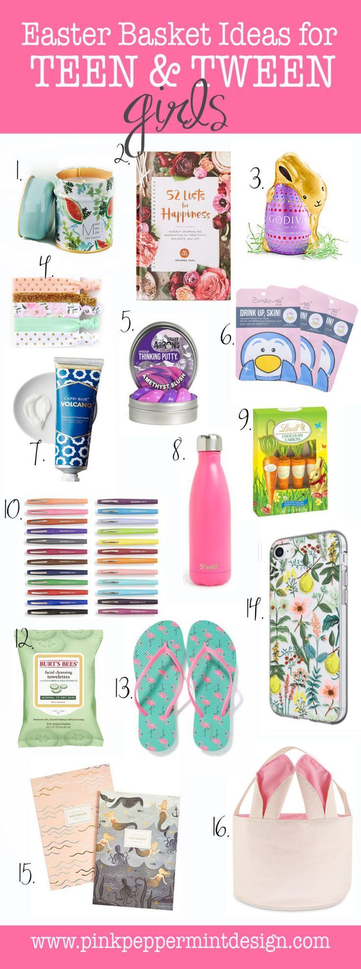 Best easter basket gift ideas for tween teenage girls