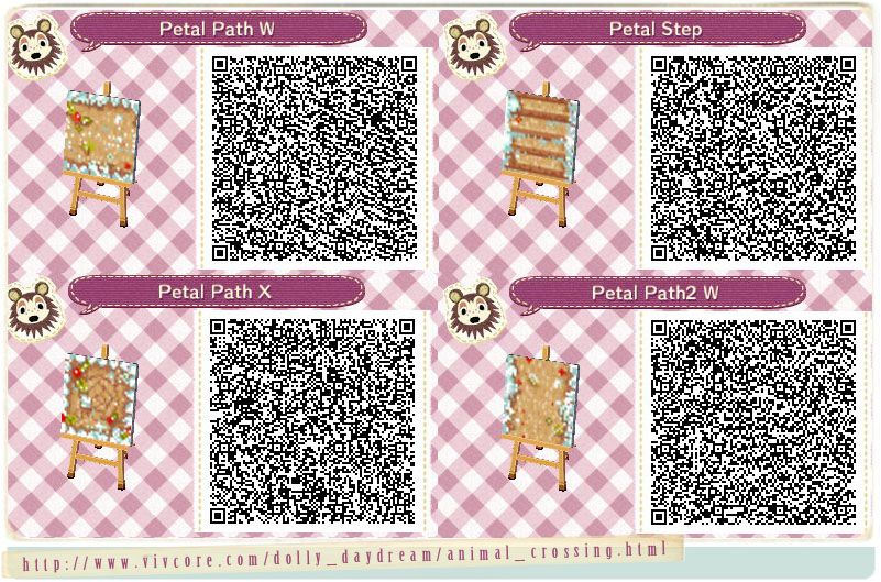 Petal Path Winter Animal Crossing Qr Codes Animal