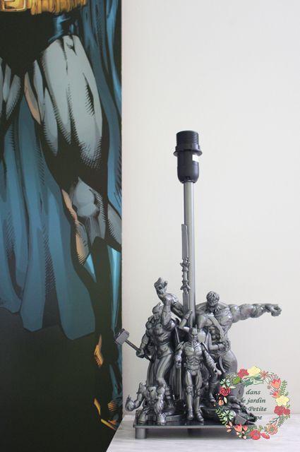 Pied De Lampe Garcon Originale Geek Figurines D Action Super Heros Industriel Marvel Dc Comics Addicts Tortues Ninja Transformers Lamp Post Diy Tictail