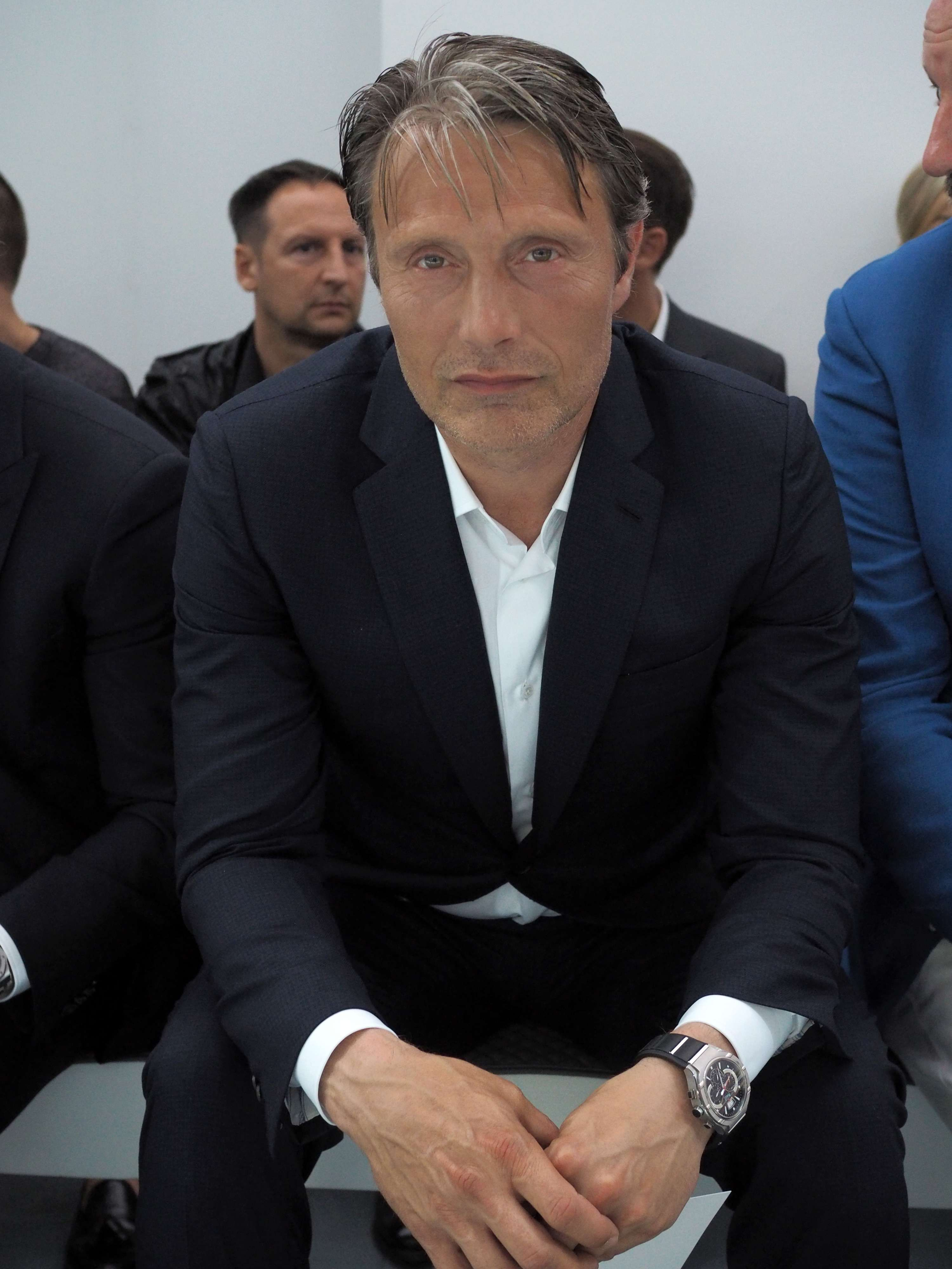 [June 22] Brioni - Front Row - Milan Collections Men SS16 - 001 - Mads Mikkelsen Source