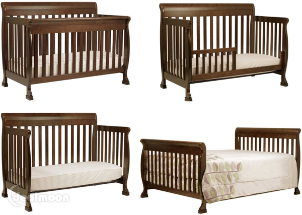 The Davinci Kalani 4 In 1 Crib Features Gentle Curves And Sturdy Construction That Can Be Converted For Use As A Toddler Bed Cribs Convertible Crib Baby Cribs