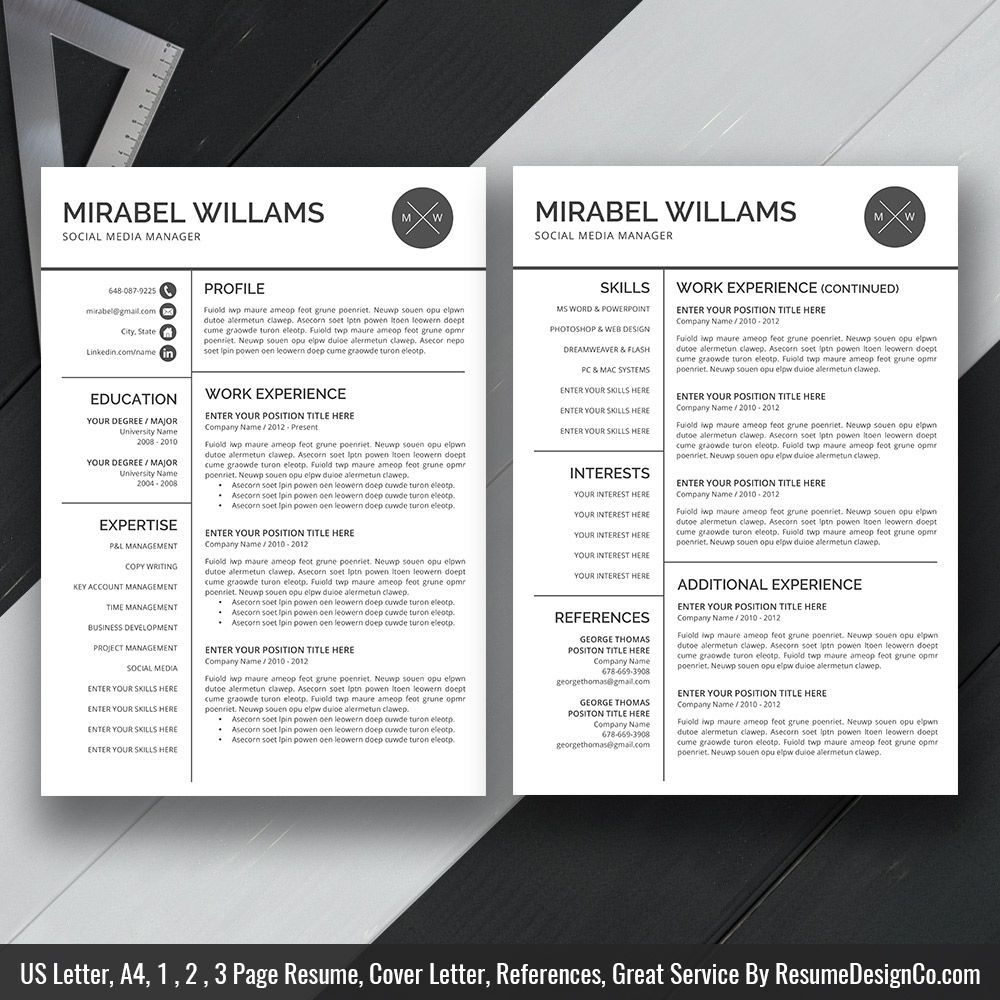 Clean Resume Template Ms Word Simple Curriculum Vitae Template Professional Resume Template Design Teacher Resume 1 2 And 3 Page Resume Template Instant D Resume Template Professional Clean Resume Template Resume Design Template