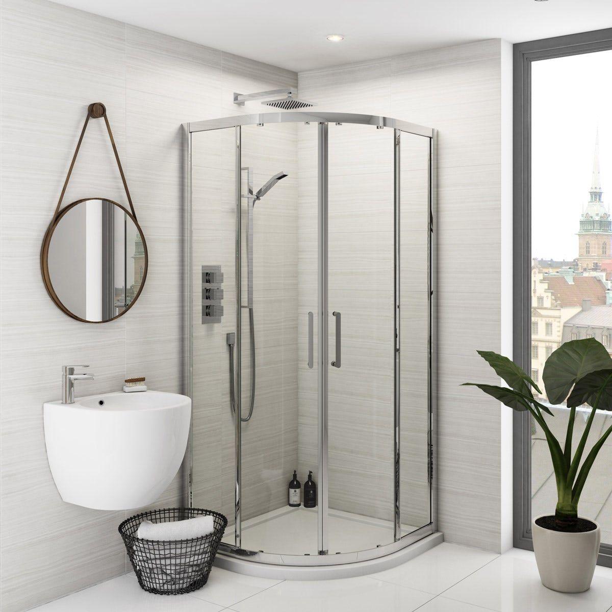 Mode Ellis premium 8mm easy clean quadrant shower ...