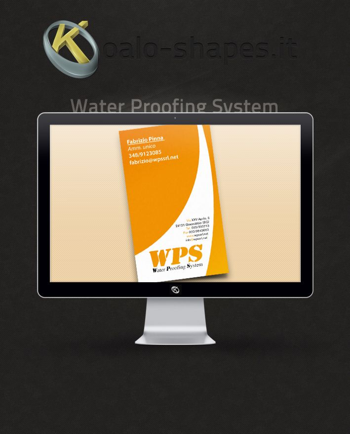 Water Proofing System #Business #card by Koalo Shapes --- WPS is a roofing and water proofing company.