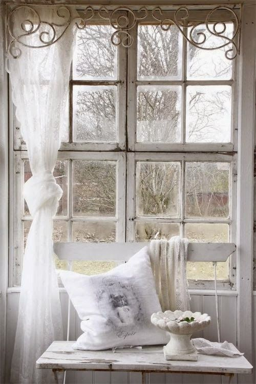 I Like The Scroll Thingy At The Top As A Curtain Rod With A Lace