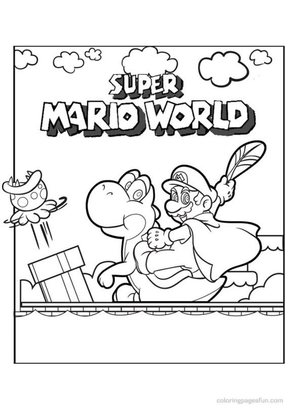 Super Mario Bros Coloring Pages 5 Free Printable Coloring Pages