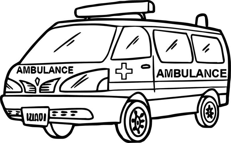 Moveable Hospital Ambulance Coloring Book Buku Mewarnai Mobil Polisi Halaman Mewarnai
