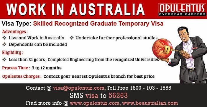 Australia Skilled Recognised Graduate (Temporary) Visa
