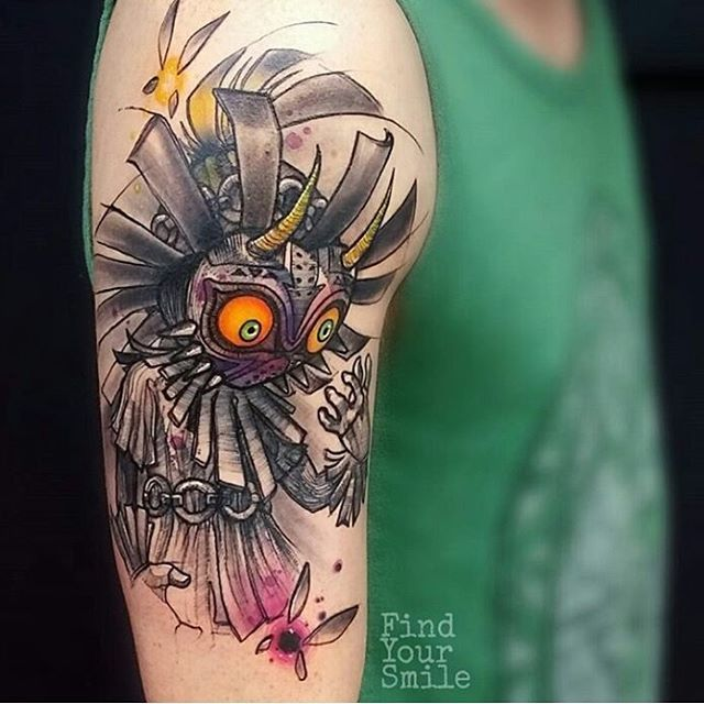 Beautiful Skull Kid Tattoo By Findyoursmile Thankyou Russell