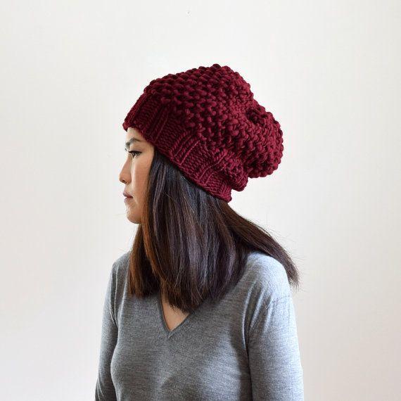Sombrero del Knit del sombrero grueso sombrero del por IRISMINT ...