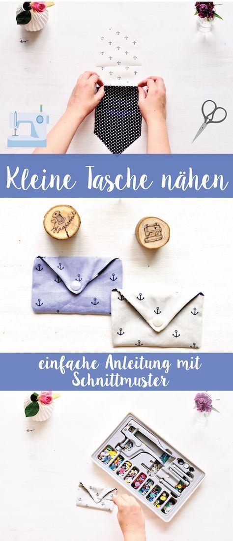 Kleine Tasche Nähen - Anleitung von | nähen | Pinterest | Kleine ...