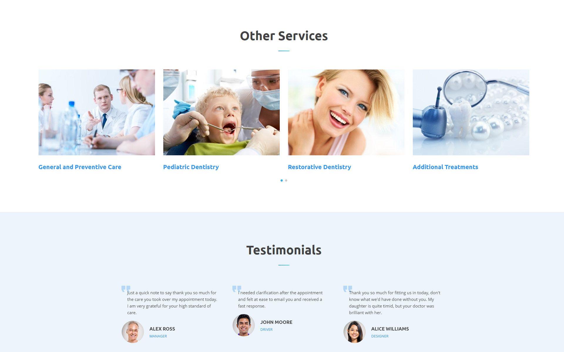 DentaCare Dental Clinic ReadyToUse Website Template