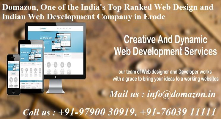 Domazon One Of The India S Top Ranked Web Design And Indian Web Development Company In Erode Tamil Website Design Company Web Design Web Development Company