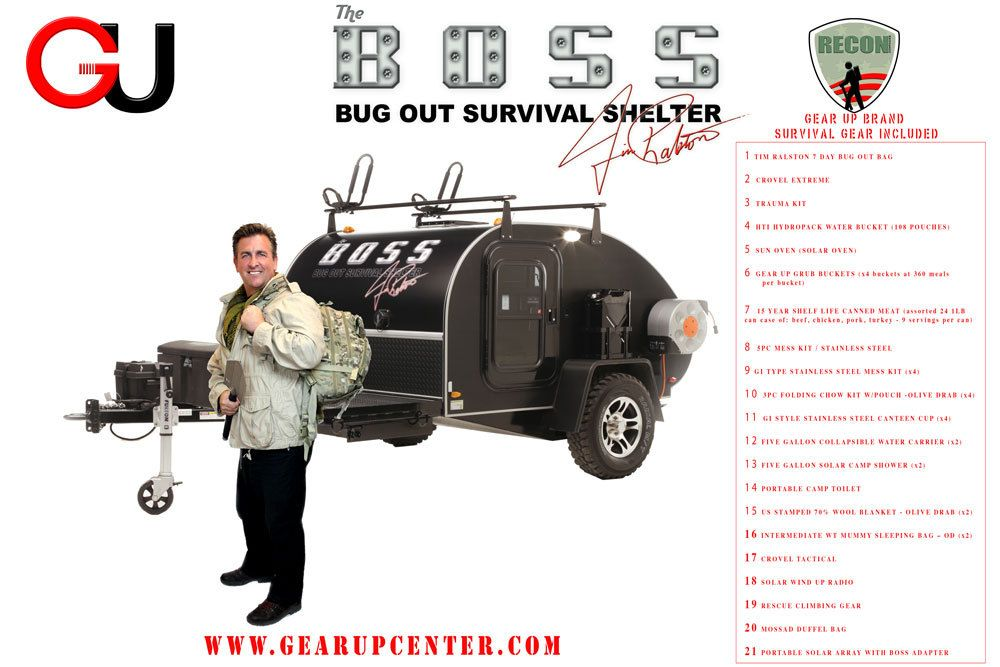 Boss Bug Out Trailer : The b o s bug out survival shelter misc pinterest