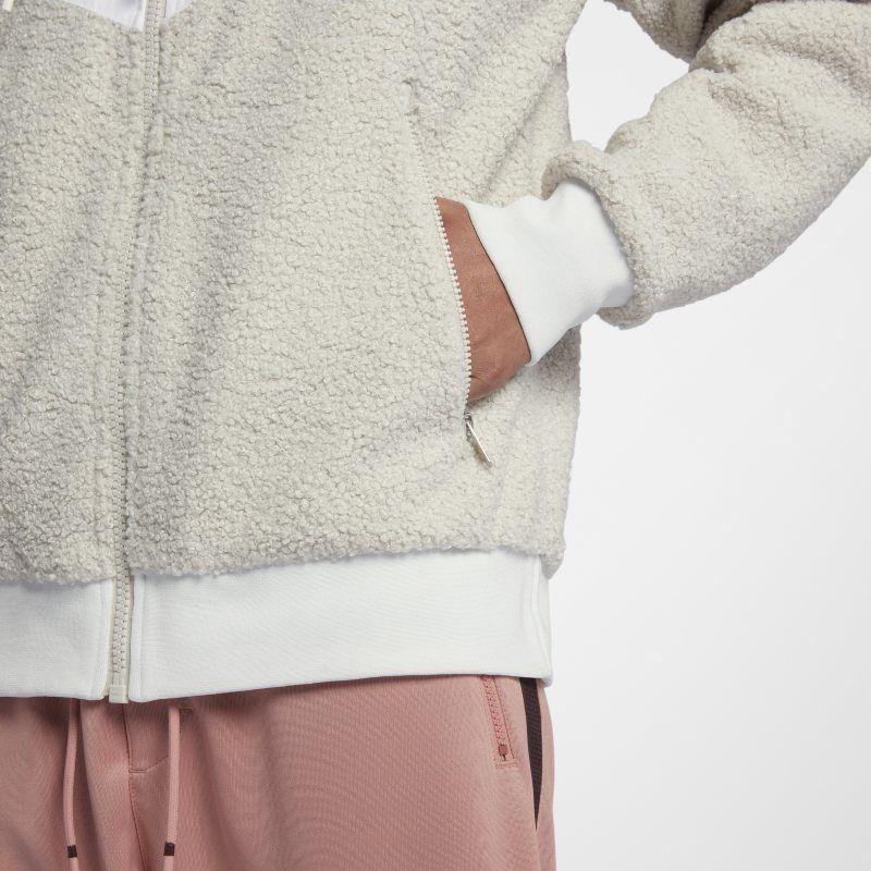morbido e leggero più foto scegli il più recente Nike Sportswear NSW Sherpa Windrunner Men's Jacket - White ...