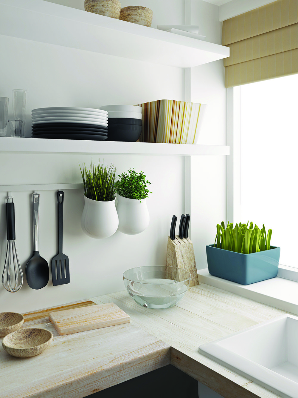 The Floating Shelf Bracket easily mounts to the wall for