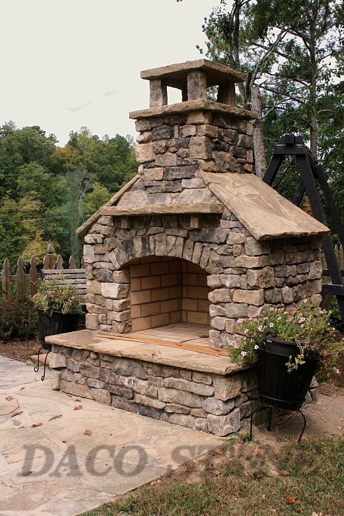 36 Outdoor Fireplace Kit Overall Total Height Is 8 Feet Or