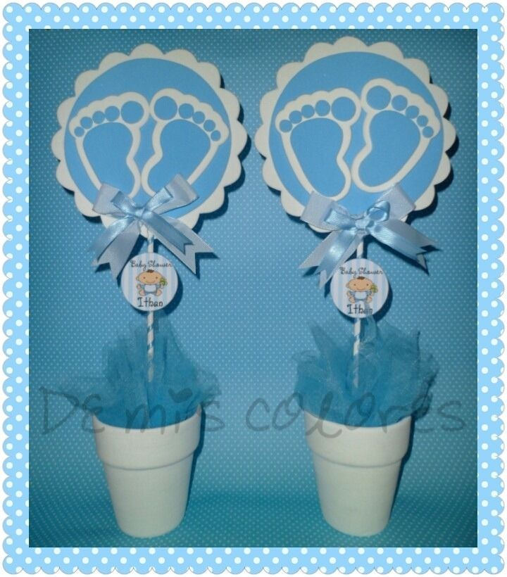 Centros de mesa baby shower nacimiento bautismo for Centro de mesa baby shower
