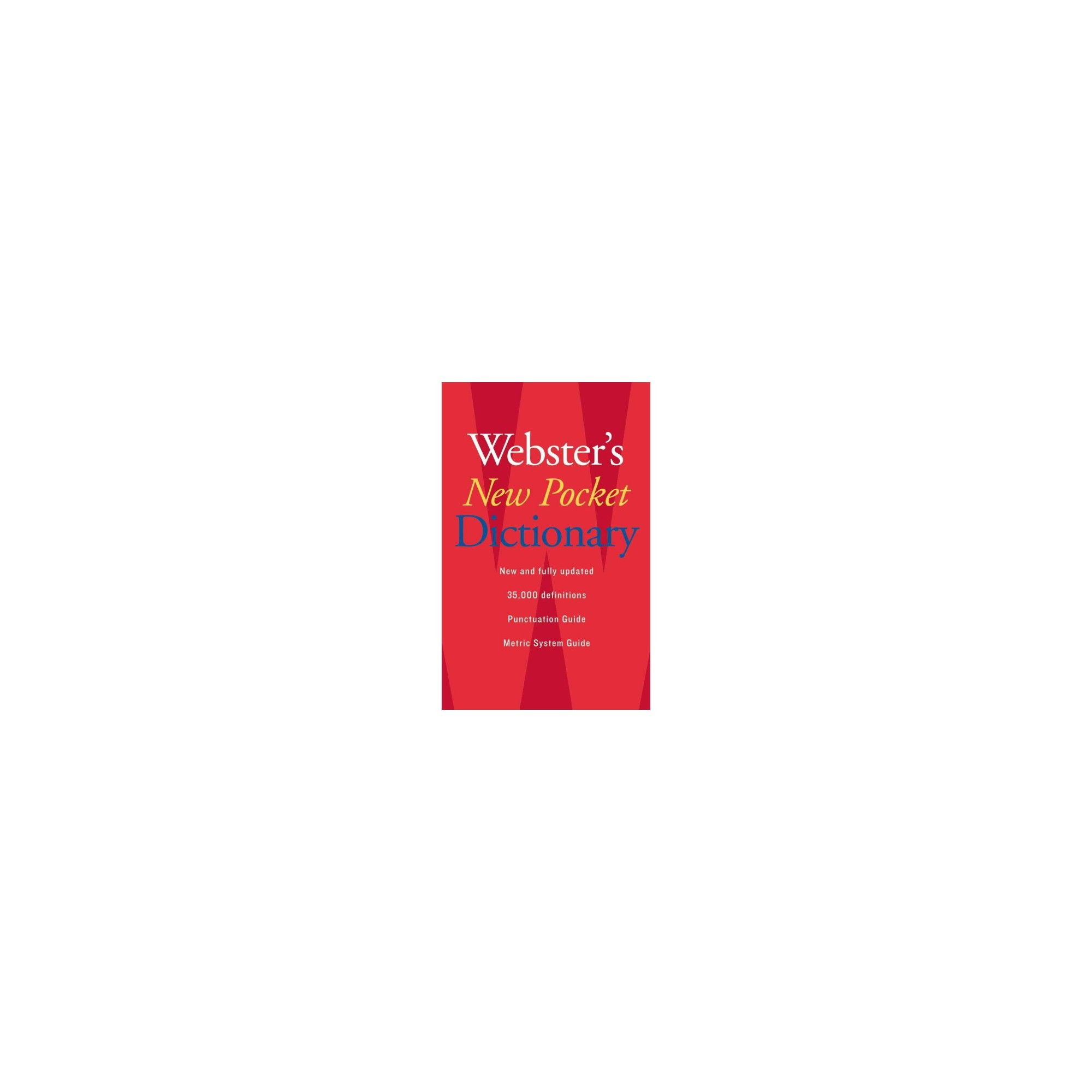 Pocket Webster S Dictionary By Webster S New College