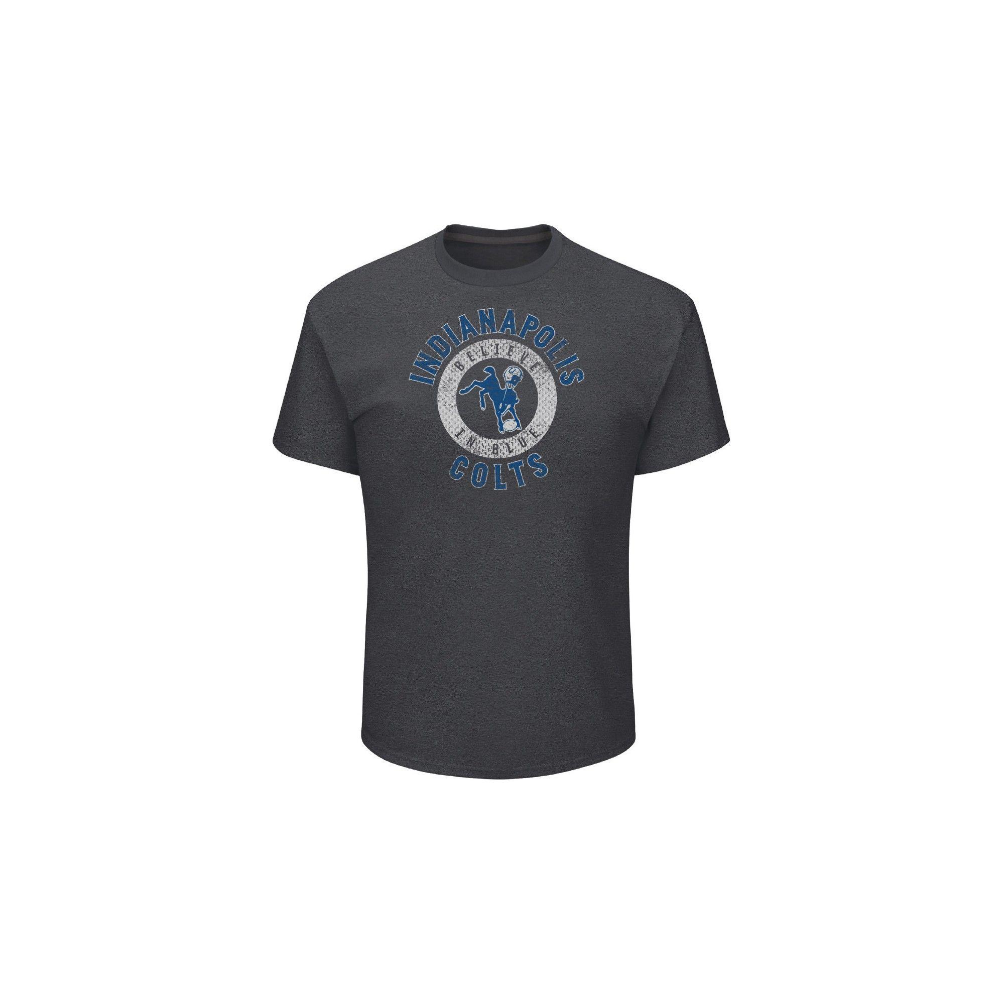 d8e2e419 Indianapolis Colts Men's Startling Success Gray Soft Touch T-Shirt ...