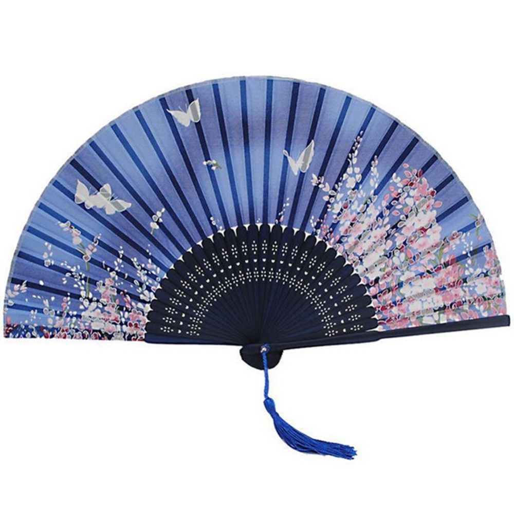 Magnificent Cherry Blossom Fans Wedding Favors Gift Blue Wedding