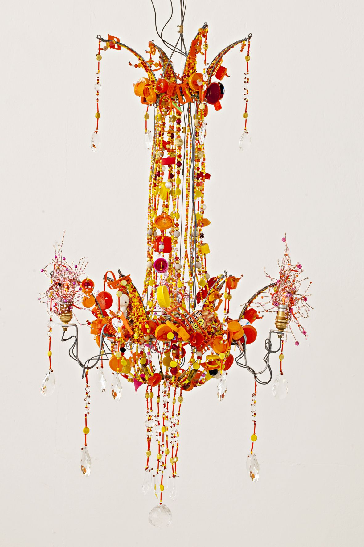 multi pin polished maxim hand chandelier long life light lighting in led chrome blown mimi tier orange glass