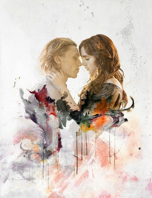 Jace and Clary (O.M.G. I love the whole dripping paint thing! :D xD SO BEAUTIFUL!)