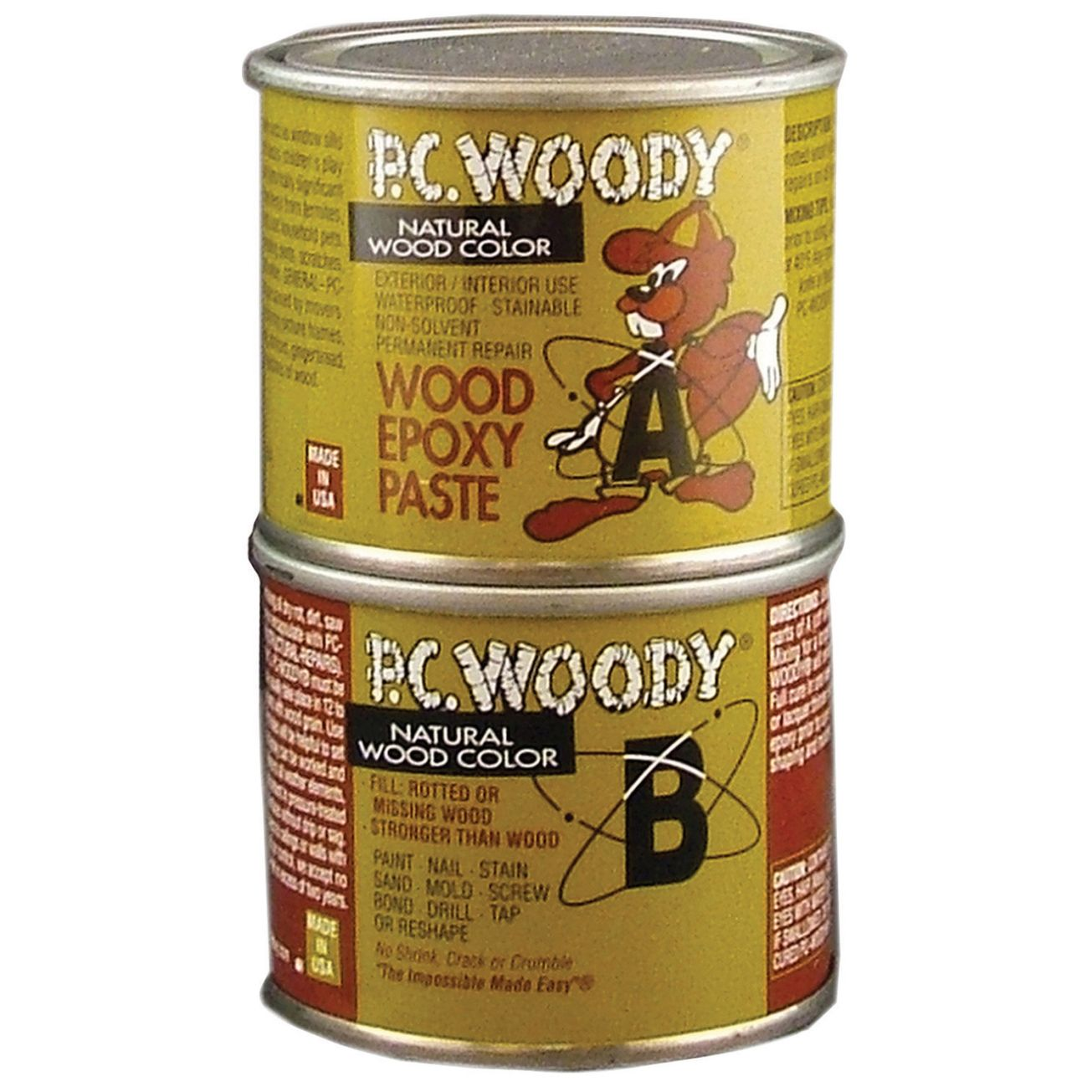 Pc Woody Tan Two Part Wood Epoxy Paste 6 Oz Wood Repair Wood Epoxy Adhesive