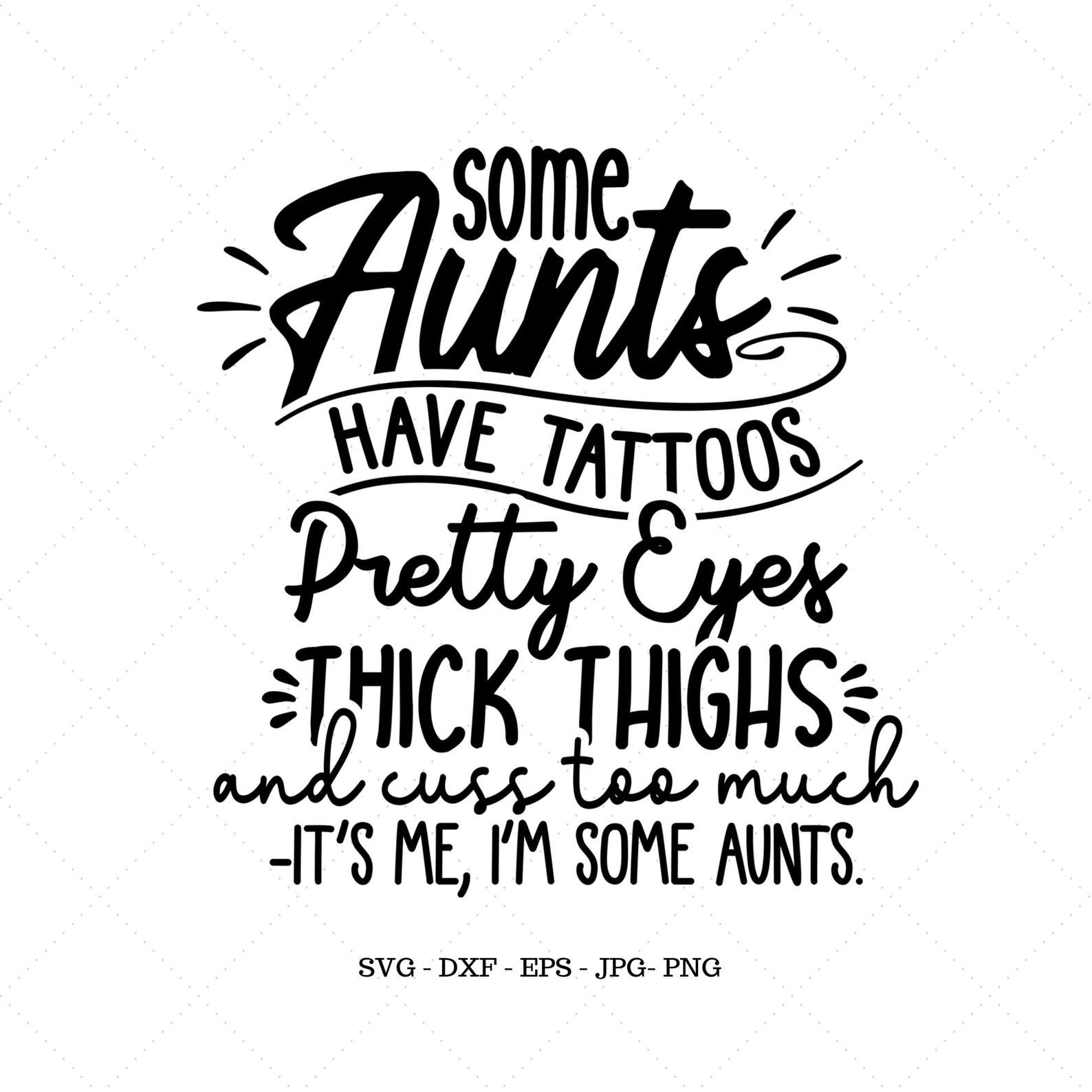 Funny Aunt Gift Aunt Svg Aunt Shirt Thick Thighs From | Etsy