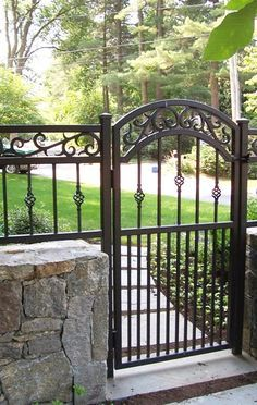 Decorative Wrought Iron Walk Gate With Images Iron Garden