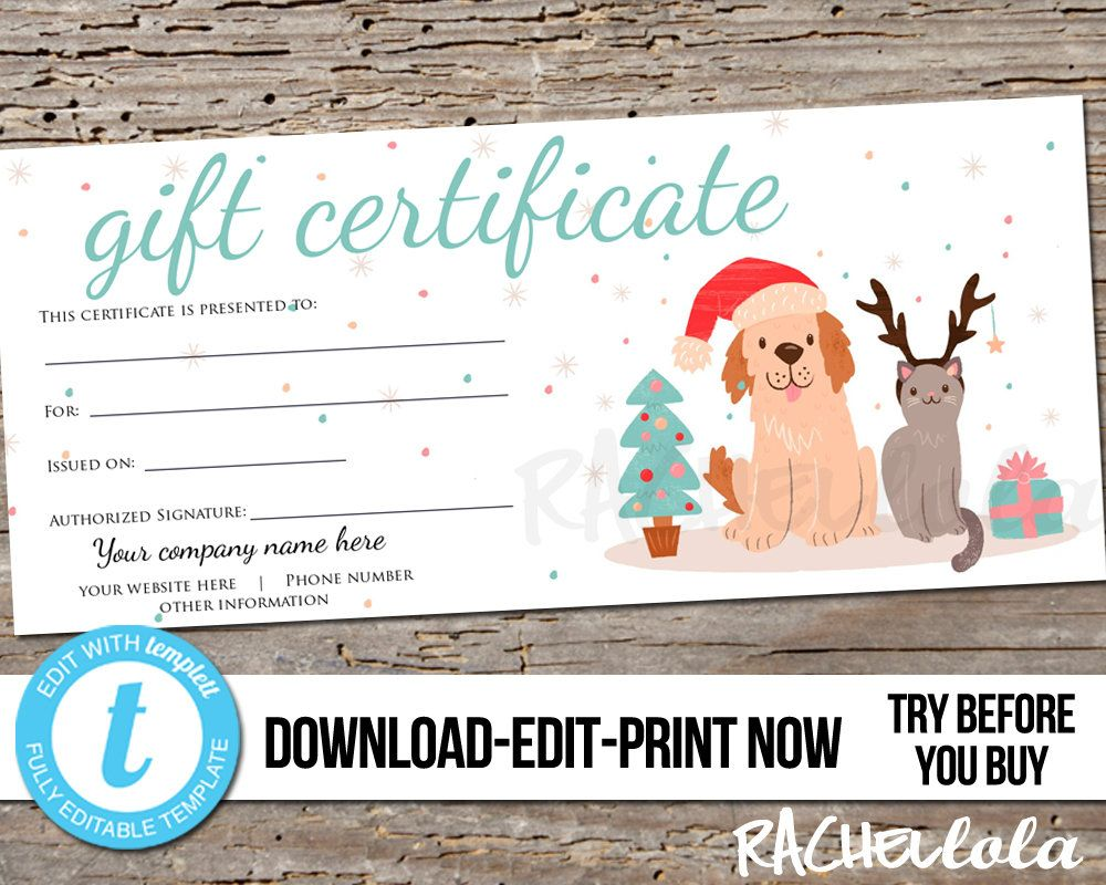 Pin On Gift Certificate Downloads