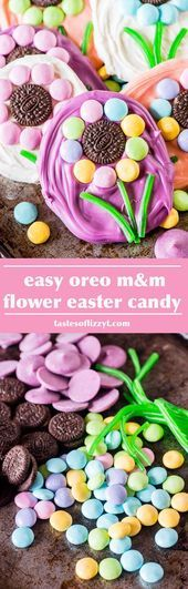 Photo of Create cute, simple candies in minutes with Oreo and M&M flowers with Twizzler s…