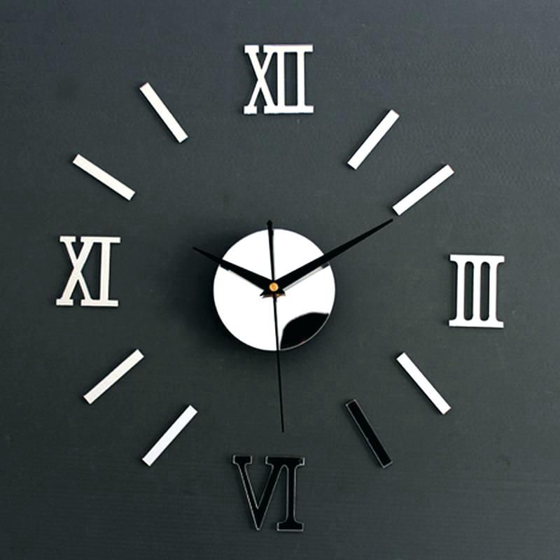 How To Choose Perfect Modern Kitchen Wall Clocks Mirror Wall Clock Wall Clock Sticker Mirror Design Wall