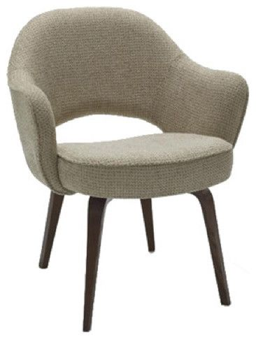 saarinen arm chair with wood legs modern dining chairs and benches - Modern Dining Room Chairs With Arms