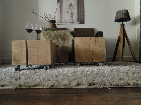 Stoere Meubels Alkmaar : Boomstam meubels van eikenhout mooi als salontafel super
