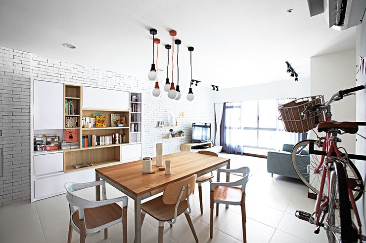 The living rooms design is inspired by Seouls independentcafe