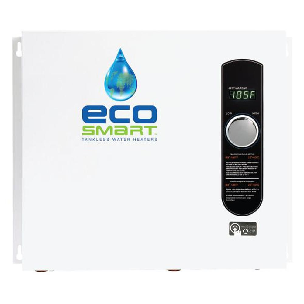 Ecosmart 36 Kw 240 Volt Self Modulating 6 Gpm Electric Tankless Water Heater Eco 36 Water Heating Shower Plumbing Water